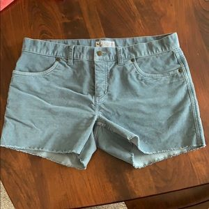 Woman's Corduroy cut off shorts